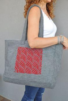 Red handbag, Diaper bags, Carry on handbag, Grey tote bag, Spring handbag, Shopping bag, Eco friendly tote, Market bag, Womens work bag