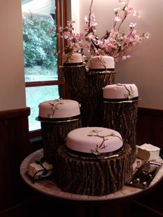 Wedding cake for outside or rustic wedding!
