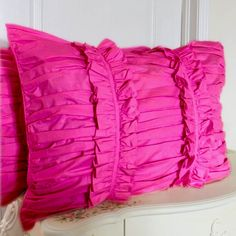 Share this page with others and get 10% off! Fuschia Ruched Pillow Sham