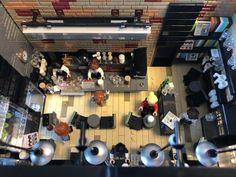 Book Cafe in Early Summer - Lego - Cool Minecraft Houses, Minecraft Pixel Art, Minecraft Skins, Minecraft Buildings, Lego Robot, Lego Batman, Lego Lego, Lego Hospital, Lego Gingerbread House