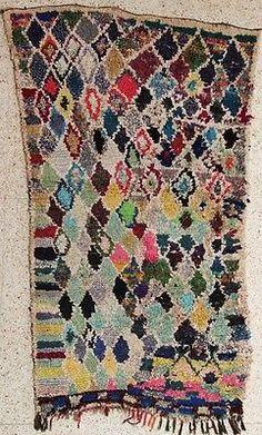 Boucherouite T27577 Boucharouette Moroccan Berber Rug Azial Beni
