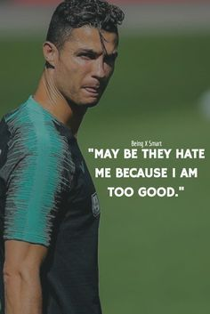 Being x Smart: Cristiano Ronaldo inspirational Quotes with image Ronaldo Memes, Cristiano Ronaldo Quotes, Cristino Ronaldo, Cristiano Ronaldo Wallpapers, Ronaldo Football, Cristiano Ronaldo Juventus, Neymar Jr, Football Quotes, Soccer Quotes