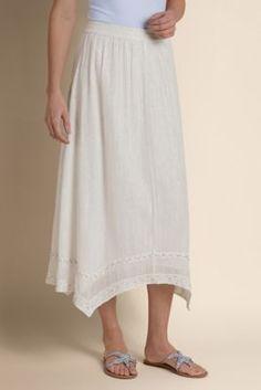 Glimmer Skirt - Gauze Skirt, Crinkled Gauze Skirt | Soft Surroundings