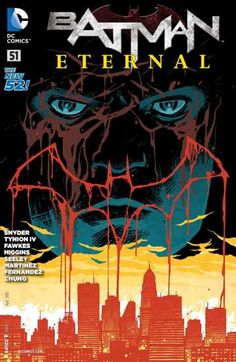 Batman Eternal (2014-) #51: This month in BATMAN ETERNAL: The epic Bat-story over a year in the making comes to a stunning end! Gotham City is in flames! Villains are running wild in the streets! Bat-tech has been corrupted! And the mastermind behind it all has put a knife in Batman's ribs! How will the Dark Knight put an end to this nightmare…and how will it shape the face of Gotham City to come?