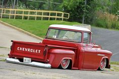 It took three trucks and a lot of time and energy to find the perfect recipe for this 1955 Chevy 57 Chevy Trucks, Custom Chevy Trucks, Lowered Trucks, Gm Trucks, Cool Trucks, Lifted Trucks, Chevy 4x4, Diesel Trucks, Dually Trucks