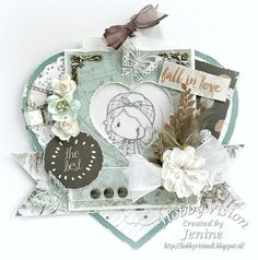 Jenine's Card Ideas: Magic Stamping Card - Fall in Love