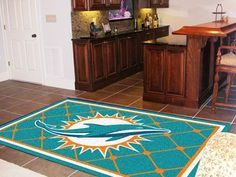 NFL - Miami Dolphins Rug 5'x8'