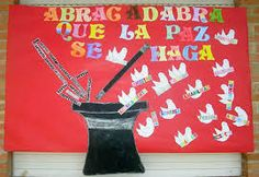 dia de la paz - Buscar con Google Peace Crafts, School Decorations, Saint Valentine, Library Displays, Origami, Recycling, Projects To Try, Religion, Arts And Crafts