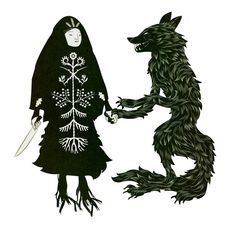 """Baba Yaga and the Wolf, Shewchuk & Colek """" She lived in a time when the wilderness was everywhere, vampires roamed the treetops, and devils traded opium and vodka for human souls by the roadside…She knew witches who practised occult alchemy, and with her own eyes witnessed animals take human form. Baba Yaga and the Wolf is a true account from the old days, when the heavens and the underworld existed in closer proximity to the earth than today"""""""