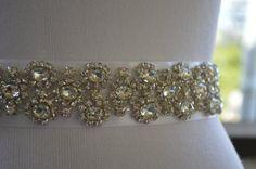 Bridal Sash,Best Seller,Unique Rhinestone and Pearl Bridal Sash,Wedding Belt Sash,Bridal Accessories. $96.00, via Etsy.