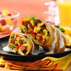 Spicy Southwest Breakfast Omelet Egg Rolls