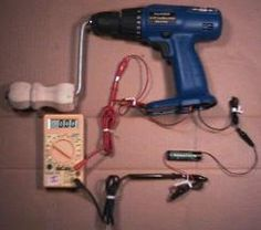 Hand Crank battery charger from a drill