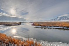 "Winter marshlands near Logan, Utah ""Winter Solace"" by James Neeley, via Flickr"