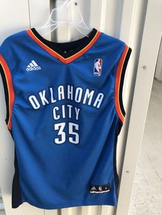 a5c8d762b Adidas NBA Basketball Oklahoma City Thunder OKC  35 DURANT Youth Size M