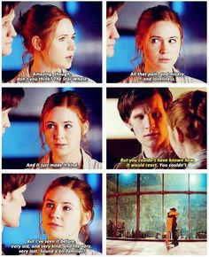 Amy. In her first off world/time traveling adventure with the Doctor and already she understands him.