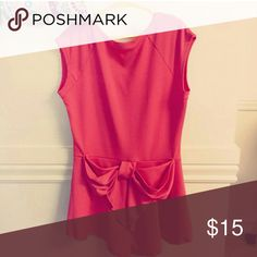 Modern Vintage Boutique Top Modern Vintage Boutique coral peplum bow back top. Size medium. Like new condition. Buckle Tops