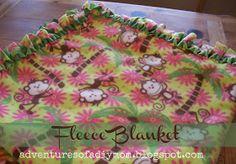 Adventures of a DIY Mom: No Sew Fleece Blanket @ericadeserae I love these edges the best!