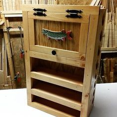 FLY ROD U0026 REEL STORAGE CABINET Smallmouth Musky WARM WATER FISH Bluegill  Crappie