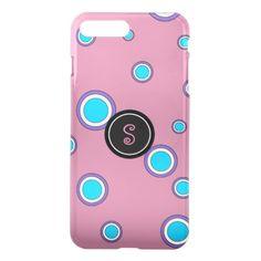 Cute Pink Circles iPhone 7 Plus Case