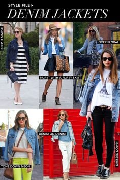 Styling tips for wearing denim jackets.