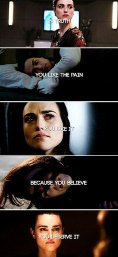 In truth, you like the pain. You like it because you believe you deserve it. #merlin