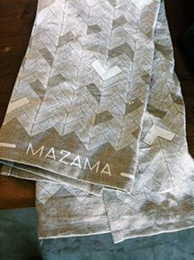MAZAMA tea towels