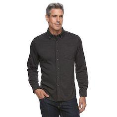 Men s Croft  amp  Barrow® True Comfort Classic-Fit Knit Button-Down Shirt df7ef8bca