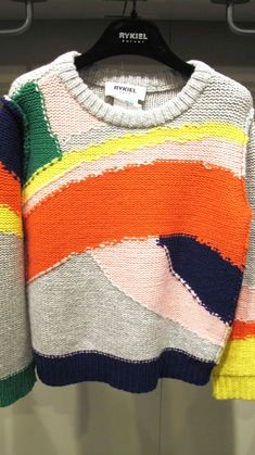 Trendy Women's Outfits : Sonia Rykiel Enfant… Knitwear Fashion, Knit Fashion, Sonia Rykiel, Knitting For Kids, Hand Knitting, Knitting Designs, Knitting Patterns, Sweater Weather, Pulls