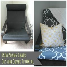 IKEA Poang Chair DIY Cover - Recovering a POANG is easier than I thought!