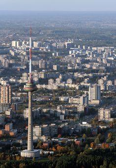 Vilnius, Lithuania TV tower and the city www.vilnius.com