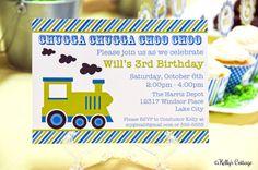 Vintage Train Birthday Invitation by KellysCottageShoppe on Etsy, $9.00