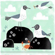 Seagull Illustration by Maeve Parker. www.maeveparker.com