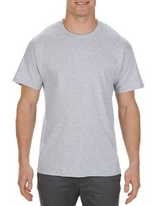 Athletic Heather (90% Cotton + 10% Polyester) - 1901 Alstyle Heavyweight Adult Tee | T-shirt.ca