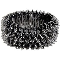 Luxury Fashion Bracelet (1 025 SEK) ❤ liked on Polyvore featuring jewelry, bracelets, accessories, steel grey, metal jewelry, metal bangles and luxury fashion jewelry