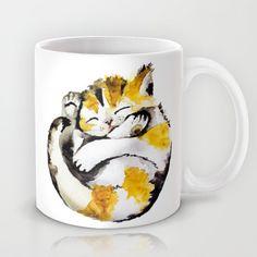little cat Mug http://society6.com/lauraizquierdo/little-cat-dlp_mug#27=199