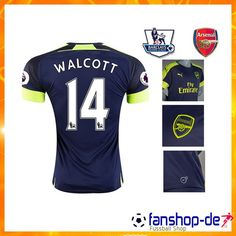 Neues Arsenal WALCOTT 14 Third Trikot Blau 2016 2017 Fan Shop Kaufen