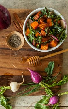 This tangy sweet potato and arugula salad just might become a new tradition for your holiday table.