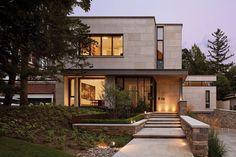 Modern Exterior, Exterior Design, Exterior Houses, Stone Cladding Exterior, Limestone House, Canadian House, Dream Beach Houses, Patio Interior, Facade House