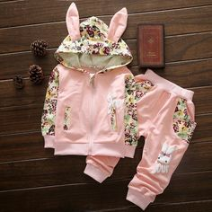 Cute Baby Girl Clothes Sets For Children High Qulity 2017 Autumn Long Sleeve Print Toddler Girls Baby Suit for Kid 1 2 3 4 Years - Kid Shop Global - Kids & Baby Shop Online - baby & kids clothing, toys for baby & kid Cute Baby Girl Outfits, Baby Girl Romper, Baby Dress, Dress Set, Jumpsuits For Girls, Girls Rompers, Baby Kids, Kids Girls, Toddler Girls