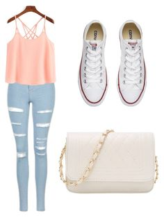 """School outfit"" by mikayla714 on Polyvore featuring Topshop and Converse"