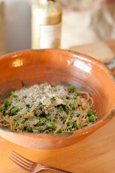 Chef Ignacio Mattos of Il Buco's Kitchen and Recipe for Spaghetti with Ramps and English Peas | The Kitchn