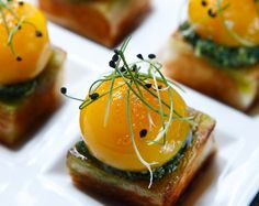 A Recipe From The Chef: Sous-Vide Egg Yolks With Arugula-Raclette Pesto From Kelley Lee's Alchemist In Shanghai