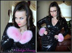 Pink Fox Fur Cuffs!!! Playful & Flirty ;) !!!