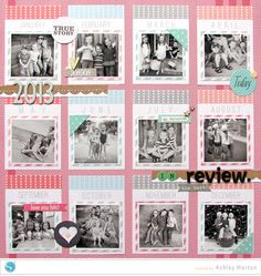 2013 in Review Scrapbook Page idea using my Silhouette
