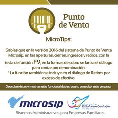 #TomaNota del siguiente #MicroTip y aprovecha al máximo tus sistemas #Microsip. Para más información entra a www.microsip.com