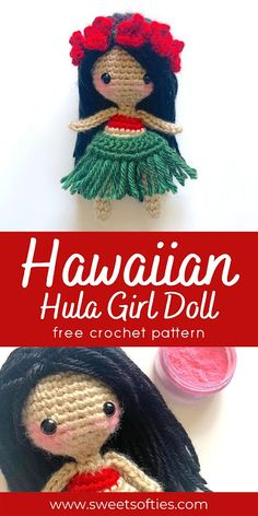 Doll Amigurumi Free Pattern, Crochet Dolls Free Patterns, Crochet Doll Pattern, Crochet Patterns Amigurumi, Baby Knitting Patterns, Doll Patterns, Amigurumi Doll, Easy Crochet Projects, Crochet Crafts