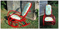 Tutorial for when I get around to re-upholstering my Bentwood rocker