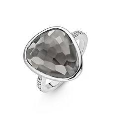Ti Sento Milano - Bague - Argent 925 - Cristal - Oxyde de zirconium - T52 - 12002TG/52