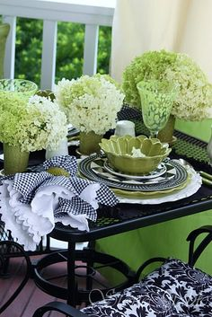 Stone Gable tablescape- love the mix of colors and textures