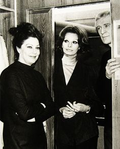 "Ava Gardner, Sophia Loren and Richard Harris on the set of ""The Cassandra Crossing"" Dir. G. Pan Cosmatos, 1976."